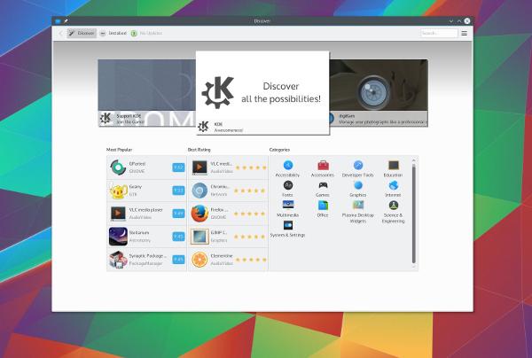 Captura de pantalla de Plasma 5.5