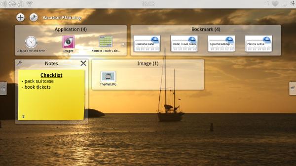 Captura de pantalla de Plasma Active 1